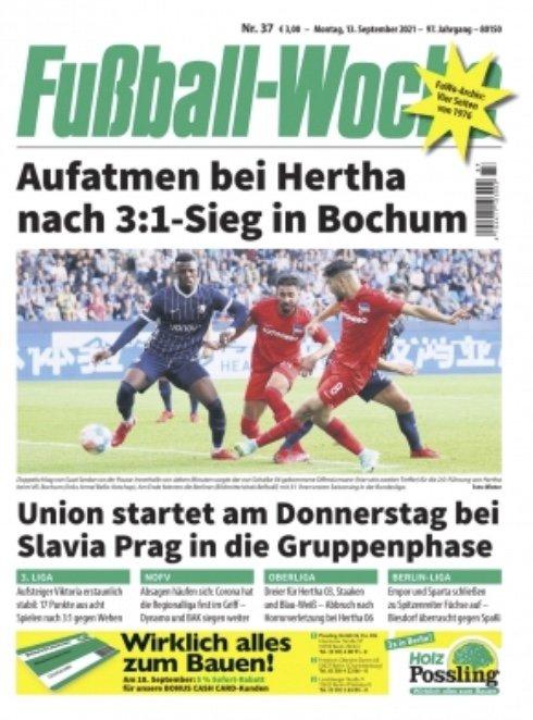 Mini-Abo: Fußball Woche (12 Ausgaben) für 36€ + 35€ Amazon.de Gutschein