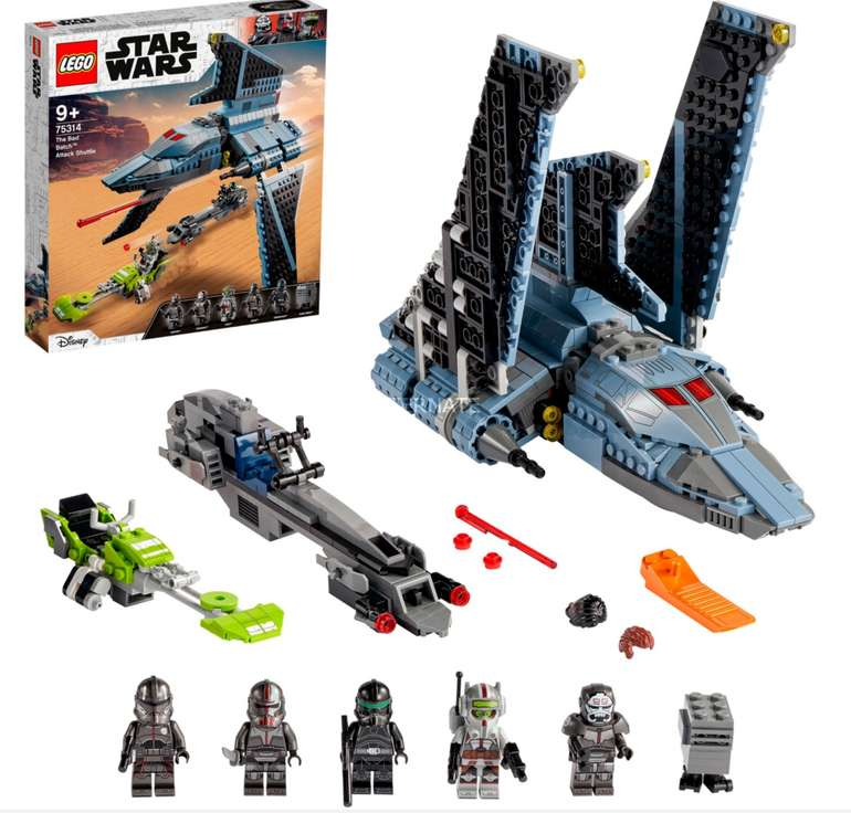 Lego Star Wars Angriffsshuttle aus The Bad Batch (75314) für 64,90€ inkl. Versand (statt 80€)