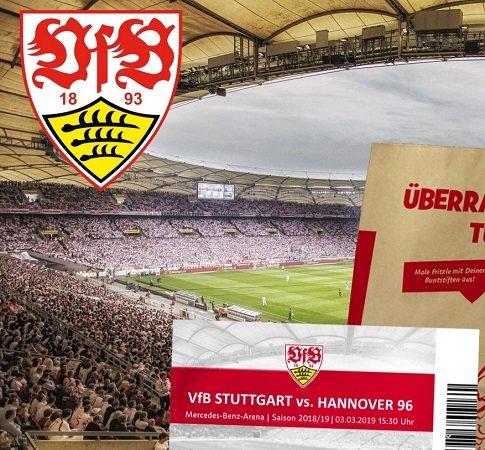 Charity-Ticket-Aktion: VfB Stuttgart – Hannover 96 am 03.03.2019 für 25€