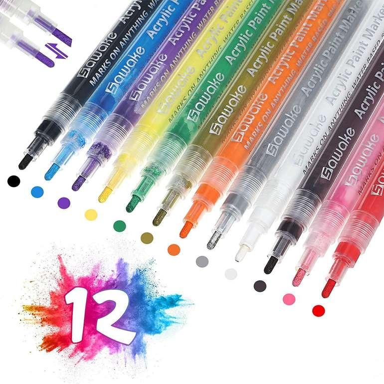 Sawake wasserfeste Acrylstifte in 12 Farben für 8,39€ inkl. Prime Versand (statt 12€)