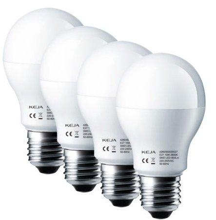 4er Set KEJA LED Birnen mit E27 & 10 Watt für 9,99€ (statt 17€)