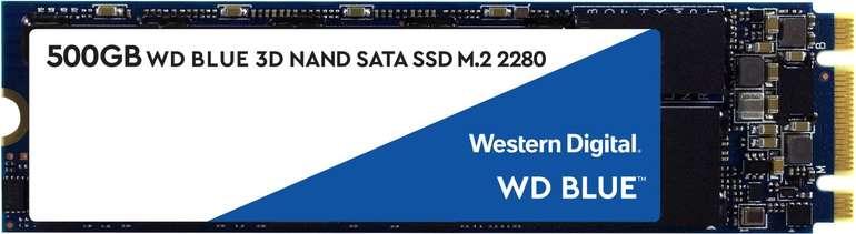Western Digital Blue SSD 3D M.2 500GB für 54,94€ inkl. Versand (statt 68€) -  Newsletter-Gutschein
