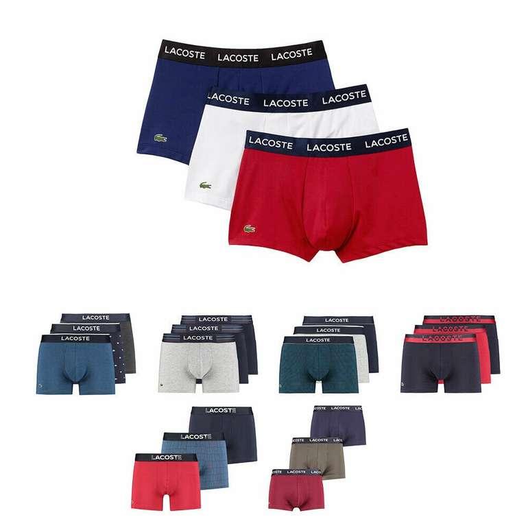 3er Pack Lacoste Herren Retropants in verschiedenen Farben für je 29,90€ inkl. Versand