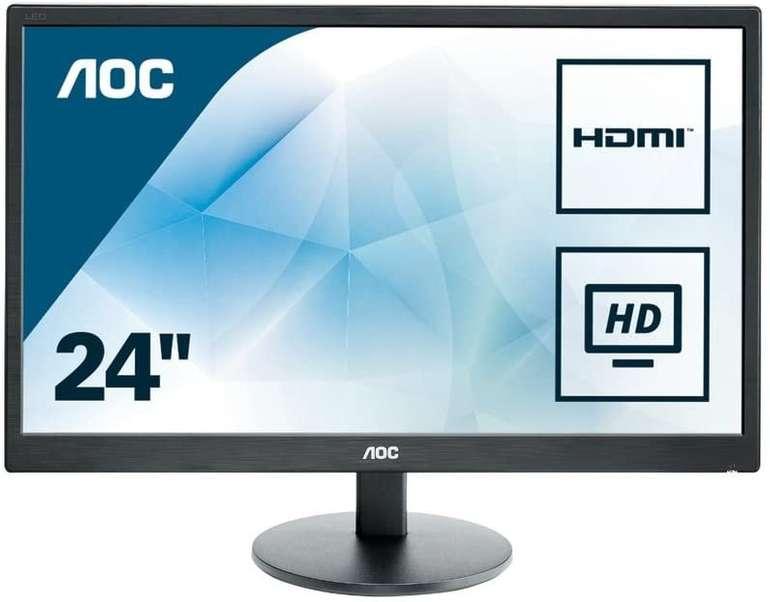 "AOC E2470SWHE - 24"" Monitor (Full HD, Pixel, 5ms Reaktionszeit) für 94,94€ inkl. Versand (statt 104€)"