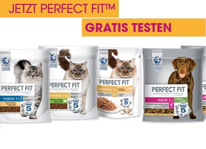 Perfect Fit Katzen- & Hundefutter bzw. Snacks gratis testen (GzG)