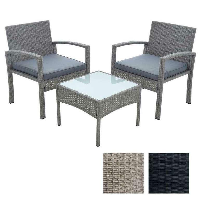Estexo Polyrattan Sitzgruppe mit 2 Stühlen + Tisch für 109,95€ (statt 130€)
