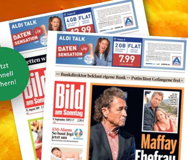 3 Monate Bild am Sonntag für 24,90€ + 25€ Amazon.de Gutschein