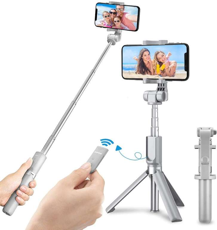 Mpow Bluetooth Selfie Stick inkl. Stativ für 11,99€ inkl. Prime Versand (statt 24€)