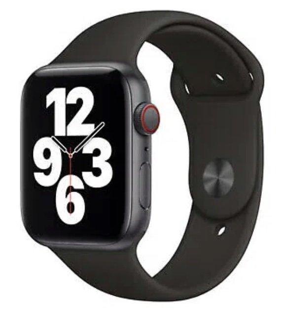 Apple Watch SE 44mm (GPS + Cellular) Spacegrau mit Sportarmband für 319,41€ (statt 362€)