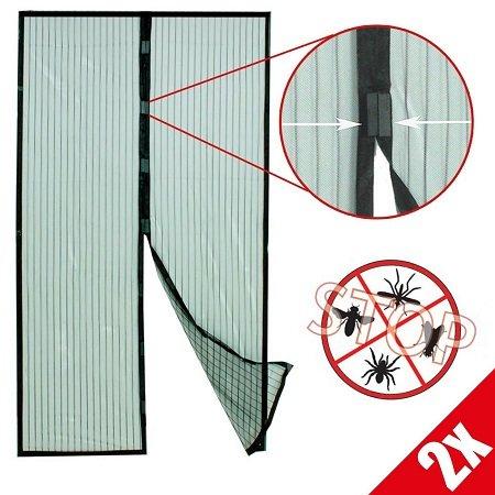 2x Grafner Insektenschutzgitter (Fliegengitter) mit Magnetverschluss für 11,75€