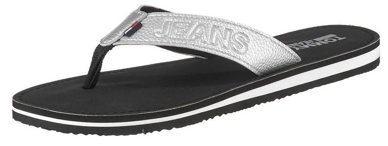 """Tommy Jeans Slipper """"Sea 23Y' in schwarz / silber für 26,91€ (statt 32€)"""