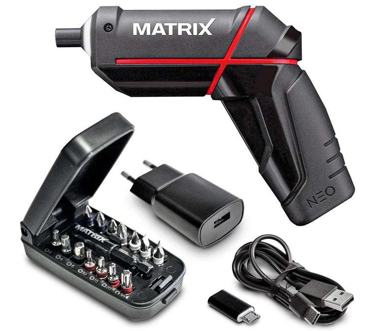 Matrix Neo 4V Akkuschrauber mit Mini Powerbank für 23,35€ (statt 25€)