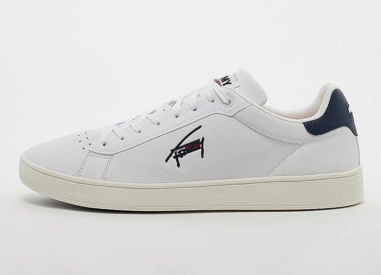 Tommy Jeans Cupsole TJM Leather Herren Sneaker in Weiß für 59,99€ inkl. Versand (statt 82€)