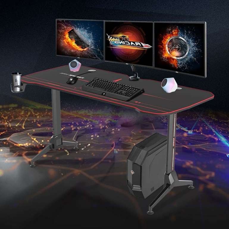 Flexispot Gaming Tisch GD01 (höhenverstellbar, Kabelführungsnetz, Getränkehalter) für 159€ inkl. Versand