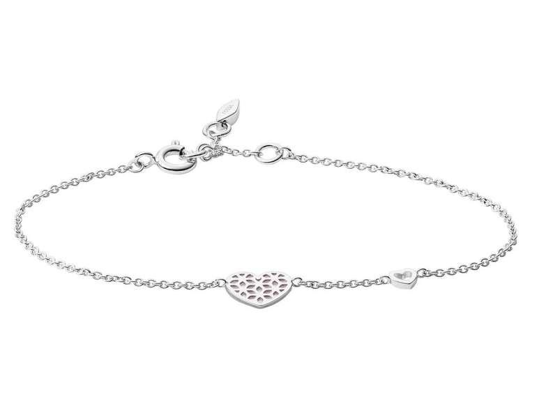 Fossil Damen Armband Sterling Silver Cutout Heart (JFS00490040) für 23,80€ inkl. Versand (statt 34€)