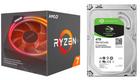 AMD Ryzen 7 2700X + Seagate 250 GB SSD + Seagate 4 TB für 374€ - Paydirekt!