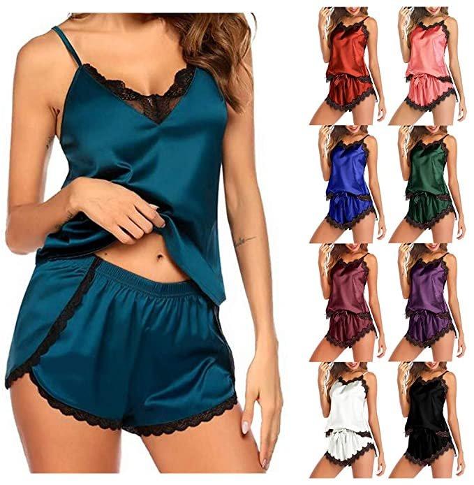 Osyard Damen Satin Schlafanzug für je 5,99€ inkl. Versand (statt 10€)