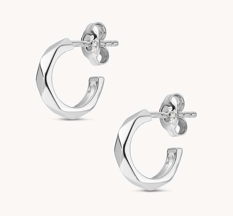 Fossil Damen Ohrringe Multi-Faceted Sterling Silver Hoops (JFS00468040) für 23,10€ inkl. Versand (statt 33€)