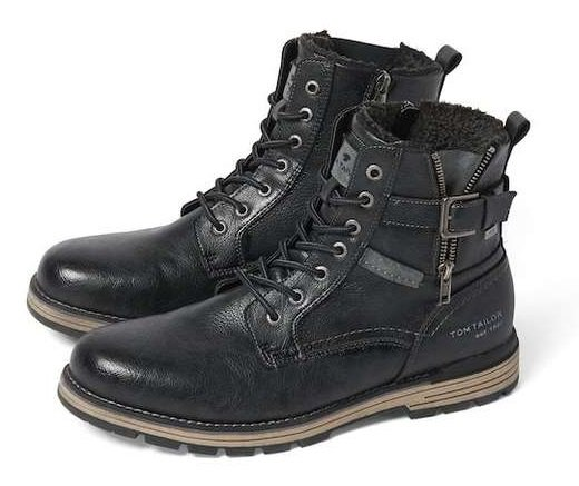 Tom Tailor Herren Boots in Schwarz für 42,49€ inkl. VSk (statt 62€)