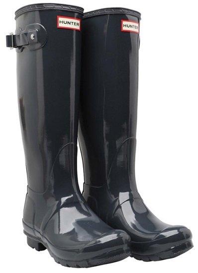 Hunter Original Tall Gloss Damen Gummistiefel in dunkelschieferblau für 55,44€