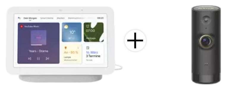 Google Nest Hub (2. Generation) + D-Link DCS-P6000LH WLAN Kamera für 82,79€ inkl. Versand (statt 116€) - Media Markt Club!