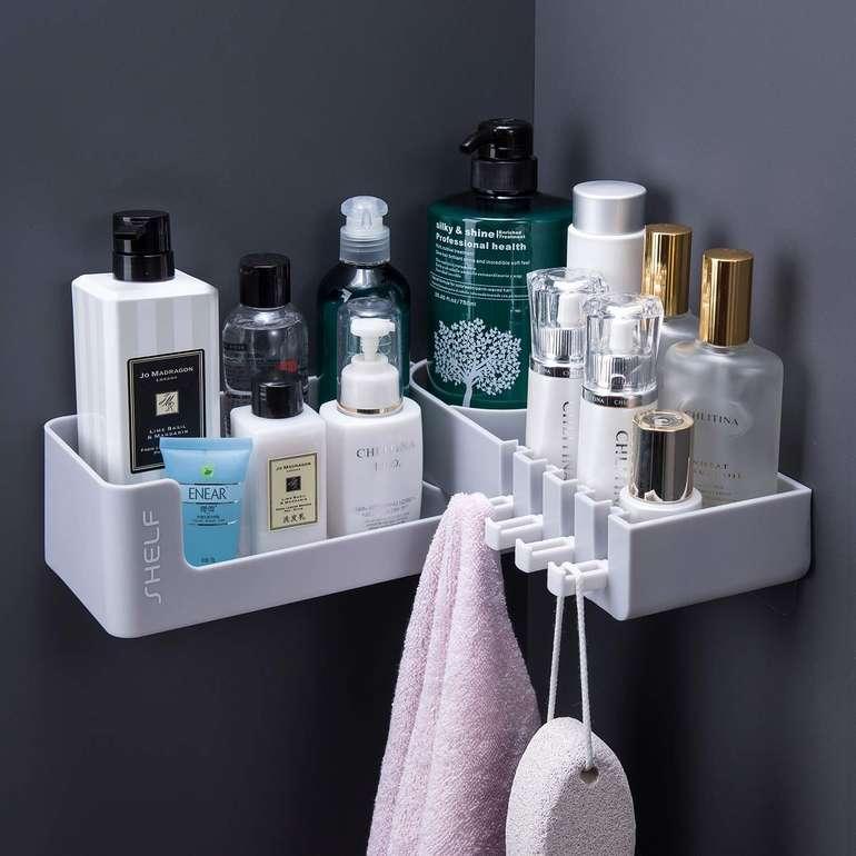 Zunto Eckablagen-Duschkorb mit 4 Haken für 13,10€ inkl. Prime Versand (statt 23€)