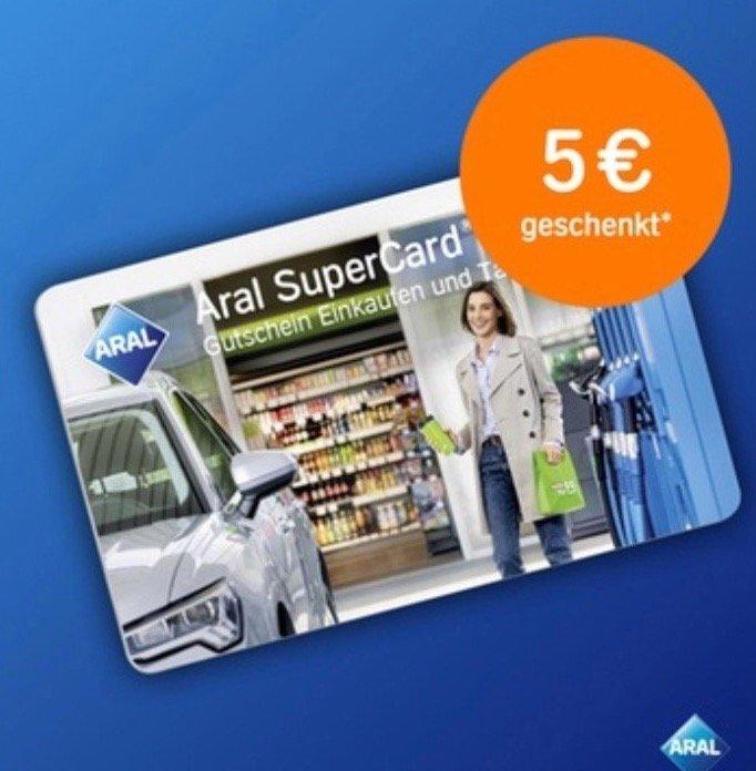 Aral Supercard (Einkaufen & Tanken) 35€ für 30€ oder 46€ für 40€