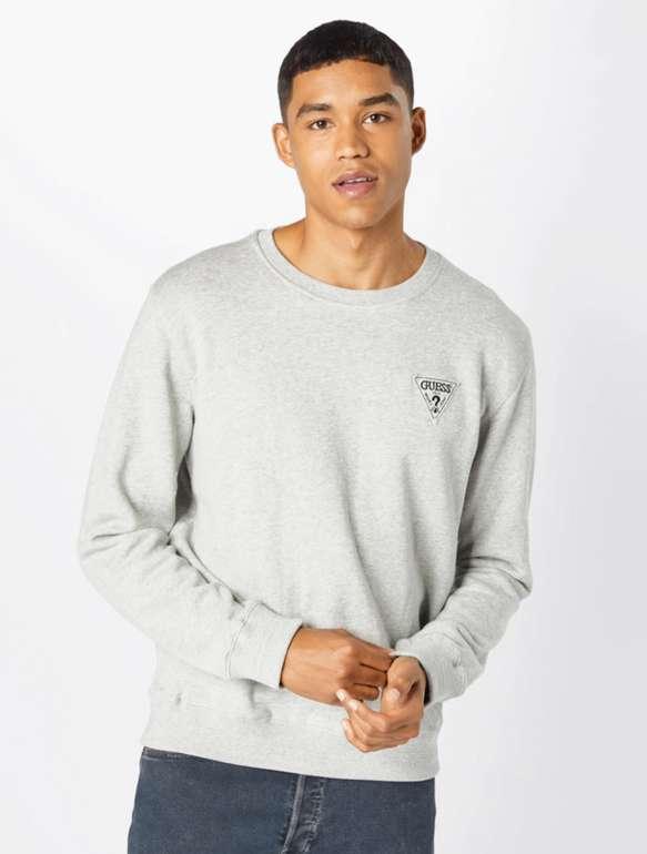 Guess Herren Sweatshirt mit Logo Print in Grau für 29,90€inkl. Versand (statt 55€)