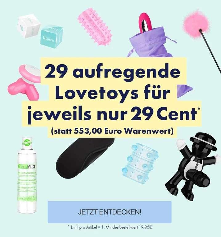 Eis.de: 29 aufregende Lovetoys für je nur 0,29€ zzgl. Versand (Mindestbestellwert: 19,95€)