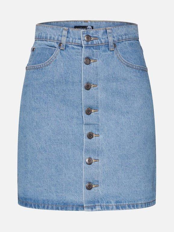 Boohoo Damen Rock in blue denim für 20,92€ inkl. Versand (statt 31€)