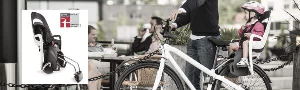 Hamax Fahrradsitz Caress mit abschließbarer Halterung