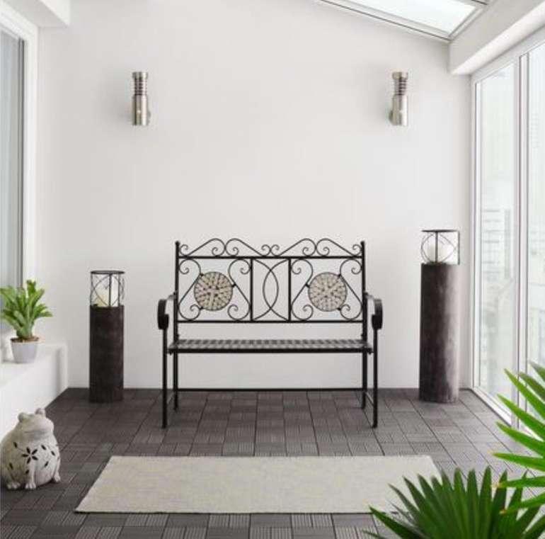 Bessagi Garden Lenz - Gartenbank in Steinmosaik für 37,42€ inkl. Versand (statt 99€)