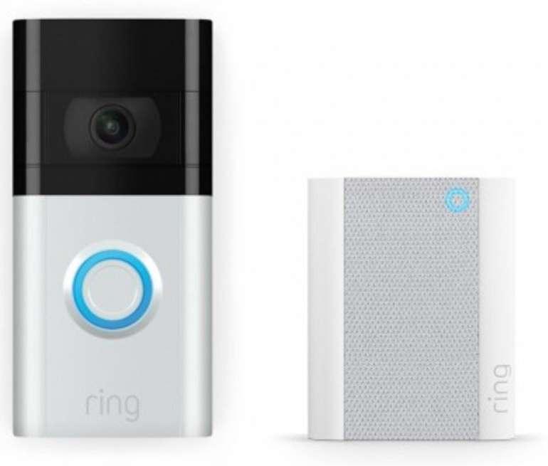 Ring Video Doorbell 3 + Ring Chime (Gen. 2) WLAN Türgong für 159€ inkl. Versand (statt 179€)