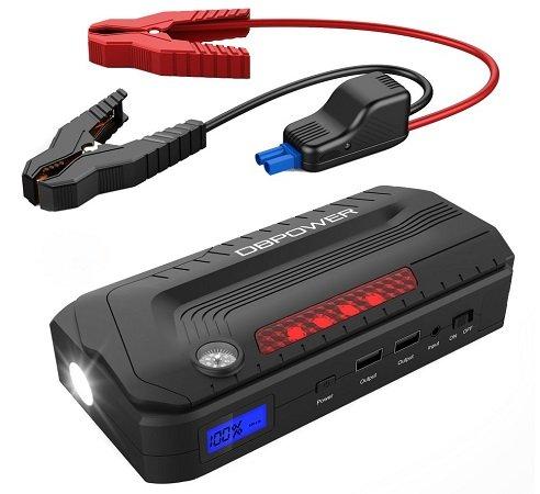 DBPower - Tragbare Auto Starthilfe mit 800A & 18000 mAh inkl. Lampe für 52,79€