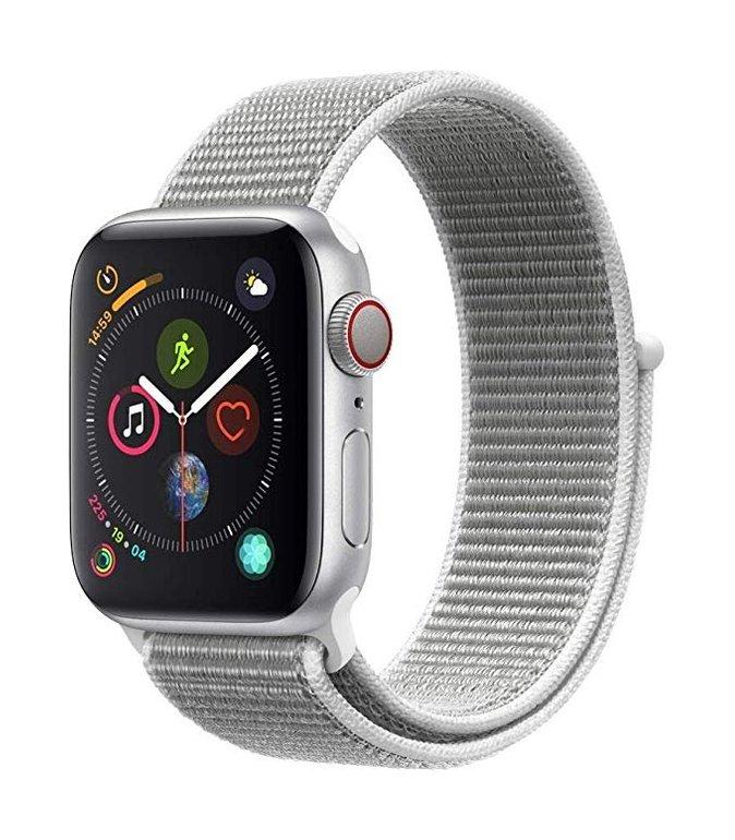 Apple Watch Series 4 LTE 40mm in Silber mit Sport Loop für 383,44€ (Prime)