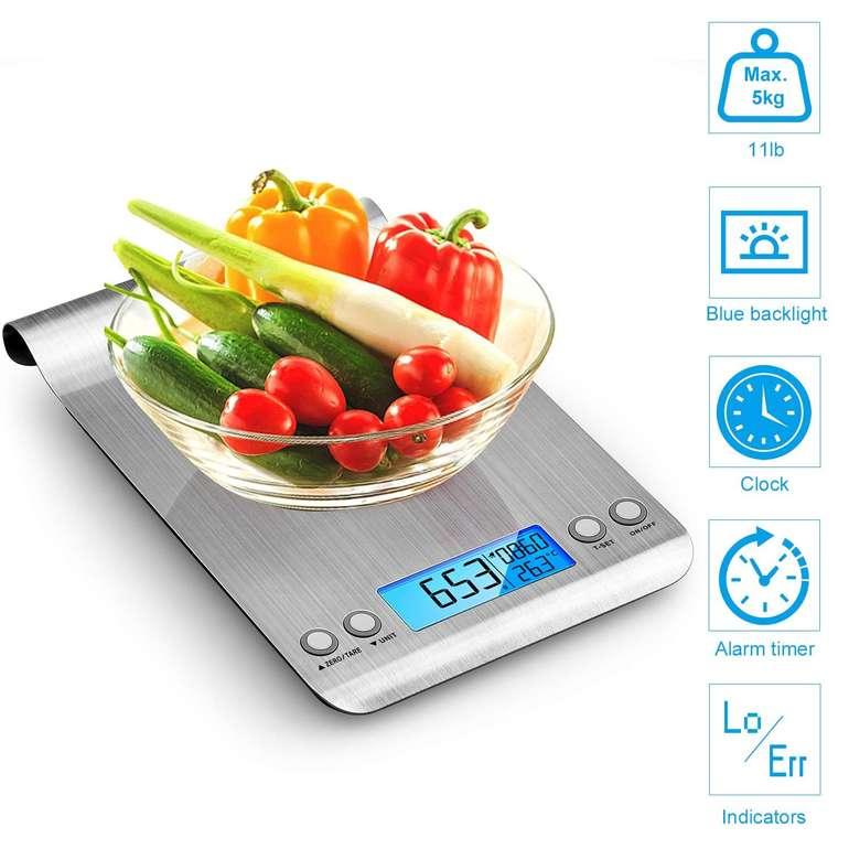 himaly Digitale Küchenwaage mit LCD-Display & Tara-Funktion (5kg/1g) für 6,99€ (Prime)