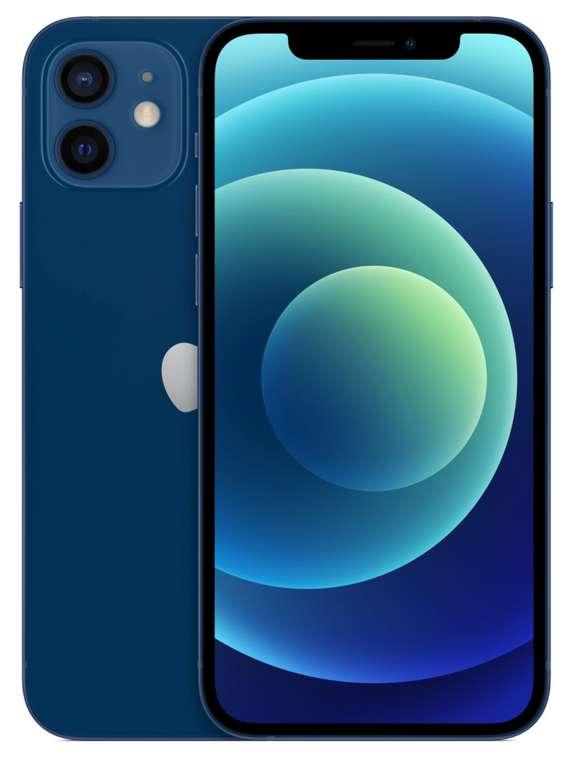 iPhone 12 5G in blau mit 128 GB (104€) + SmartXL Vodafone (20GB LTE, Allnet) für 44,99€ mtl.