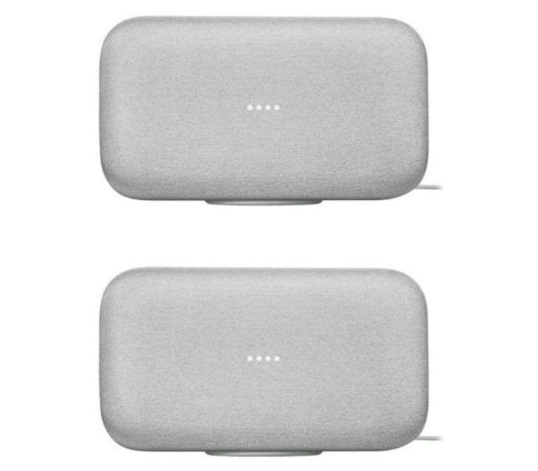 2er Pack Google Home Max Smart Speaker mit Sprachsteuerung für 449€ (statt 514€)