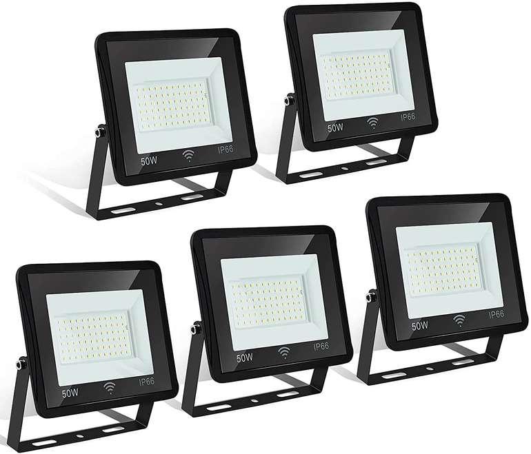 Hengda 5er Packs LED Strahler (Warmweiß, 50W) für 42,59€ inkl. Versand (statt 71€)
