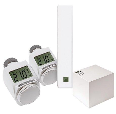 eQ-3 MAX! Cube Starterset mit 2 Thermostaten + Fensterkontakt für 50€ (statt 75€