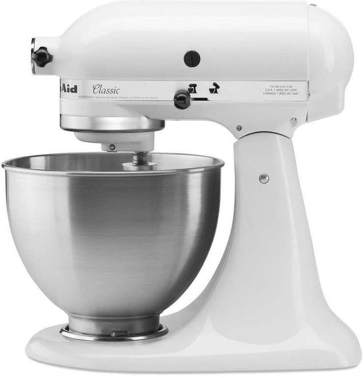 KitchenAid 5K45SSEWH Küchenmaschine in Classic Weiß für 299€ inkl. Versand (statt 349€)