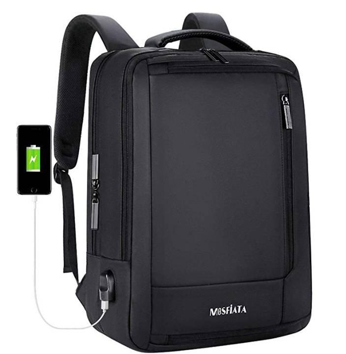 Mosfiata Laptop Rucksack mit USB-Ladeanschluss für 15,99€ (statt 25€) - Prime!