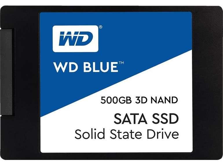 Western Digital (WD) Blue 3D NAND SATA SSD mit 500GB für 61,99€ inkl. Versand (statt 72€)