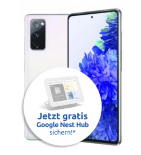 Samsung Galaxy S20 FE + Galaxy Watch + Nest Hub (103,95€) mit Congstar Allnet Flat Aktion (12 GB LTE) für 22€ mtl.