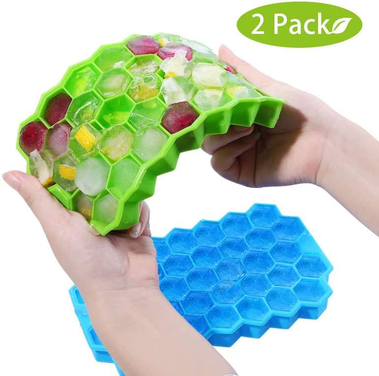 Godmorn Silikon Eiswürfelform für 37 Eiswürfel (Doppelpack) für 6,64€ inkl. Prime Versand (statt 9€)