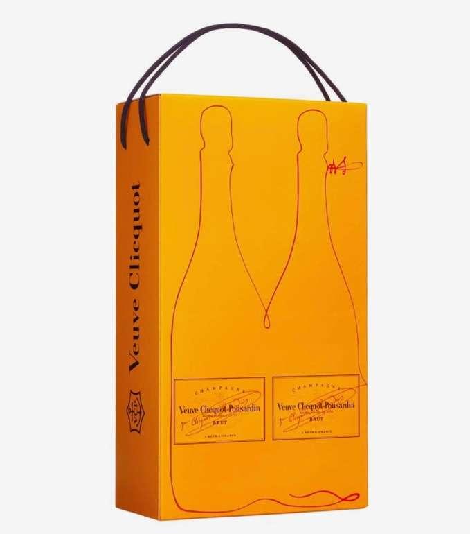 2x Veuve Clicquot Brut (je 0,75 Liter) mit Geschenkverpackung für 64,90€ inkl. Versand (statt 78€)