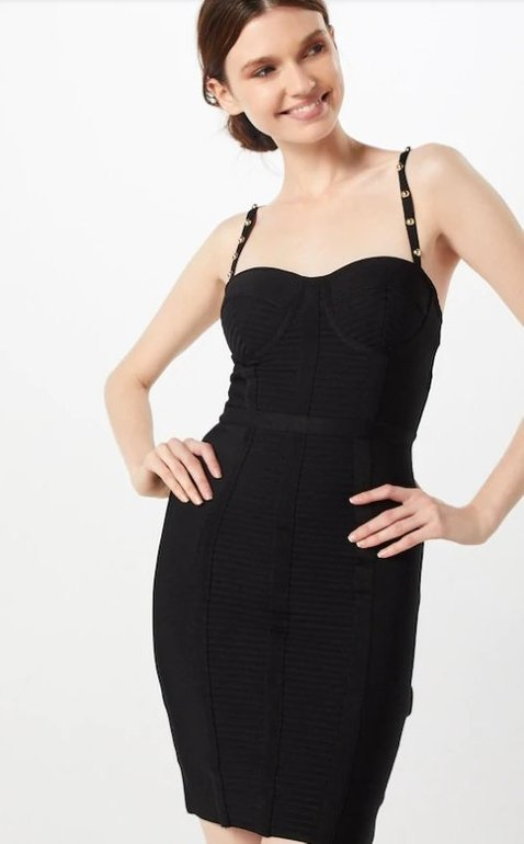 Guess Kleid 'Anne' in schwarz (36, 38) für 116,10€ inkl. VSK (statt 160€)