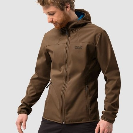 JACK WOLFSKIN Softshelljacke 'NORTHERN POINT' in schwarz