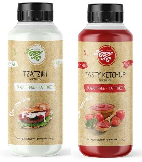 """GymQueen Mamma Mia Zero Saucen """"Tzatziki"""" oder """"Ketchup"""" (nahezu kalorienfrei) für je 1€ + 3,90€ VSK"""