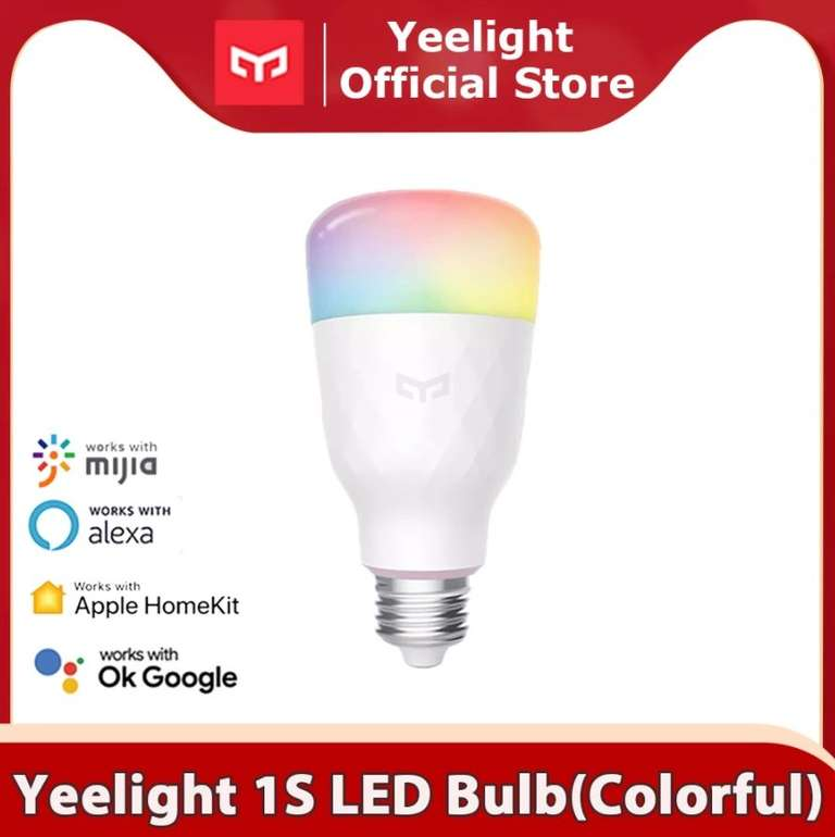 Yeelight 1SE - Smarte LED Birne (E27 6W RGBW AC 100-240V) für 12,11€ inkl. Versand (statt 17€)